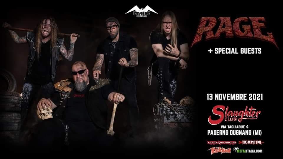 """RAGE: una data a Milano per il """"Live Resurrection"""" tour 2021"""