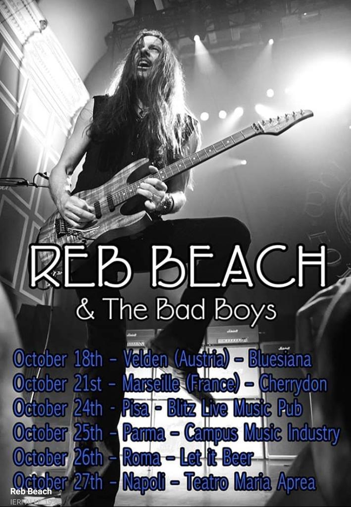 Reb Beach & The Bad Boys in Italia per quattro date ad Ottobre!