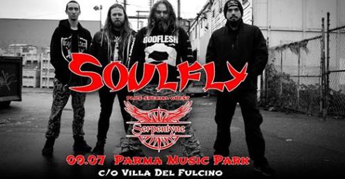 Soulfly il 9 Luglio al Parma Music Park!