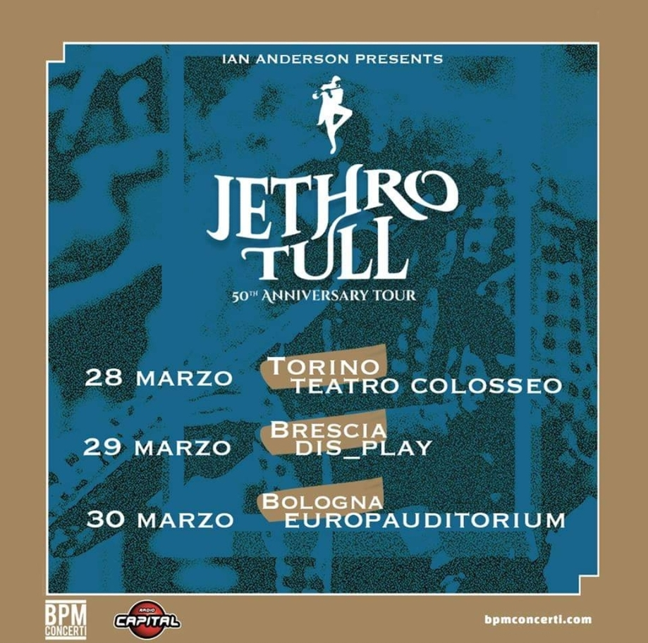 Jethro Tull in Italia nel 2019 per 3 imperdibili date!