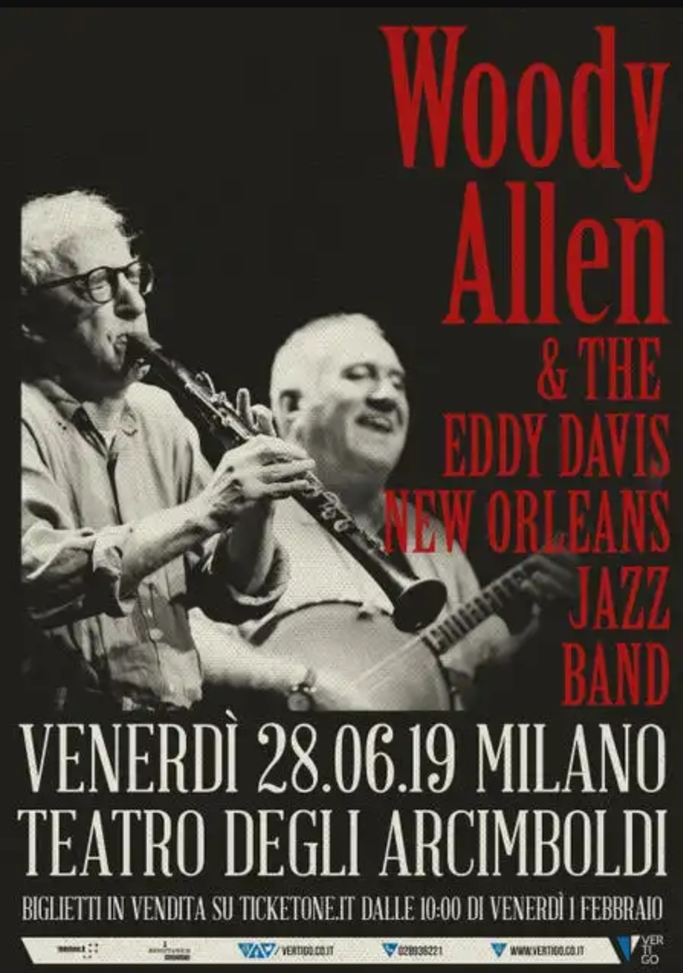 Woody Allen and the Eddy Davis New Orleans Jazz Band: dal vivo a Milano!