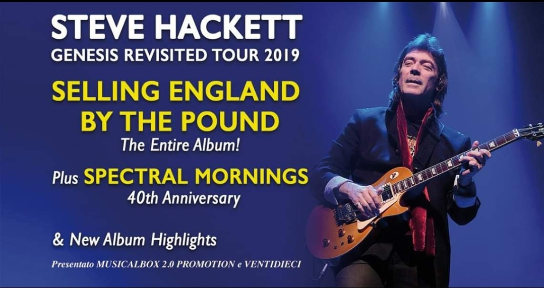 Steve Hackett in Italia per 4 date in primavera