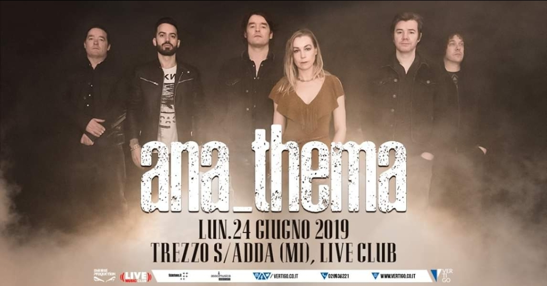 Anathema il 24 Giugno al Live Music Club di Trezzo sull'Adda (MI)!
