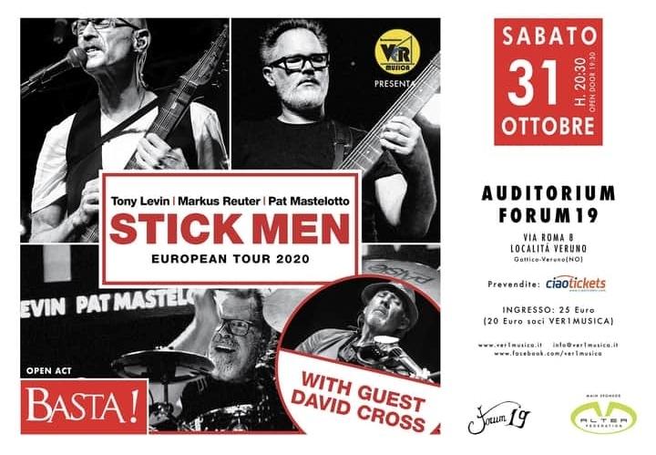 Stick Men: una data a Veruno (NO) il prossimo 31 Ottobre