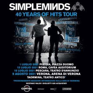 Riprogrammato per il 2021 il '40 Years Of Hits Tour' deiSimple Minds!