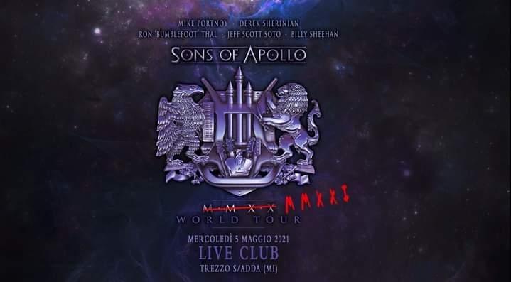 Sons of Apollo: recupero live il 5 Maggio 2021