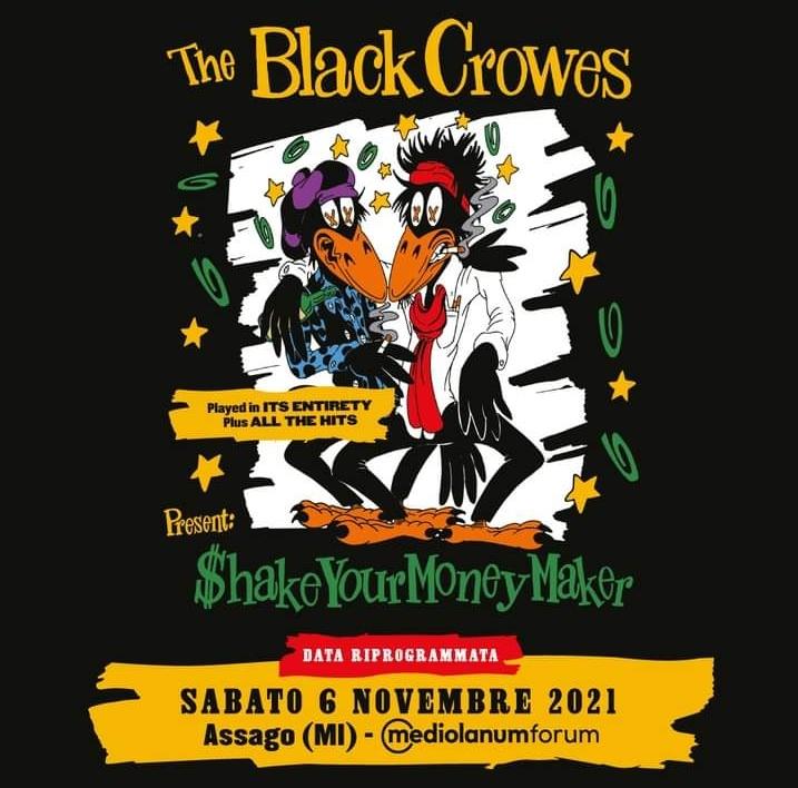 The Black Crowes: il tour si sposta al 2021. Riprogrammata la data italiana.