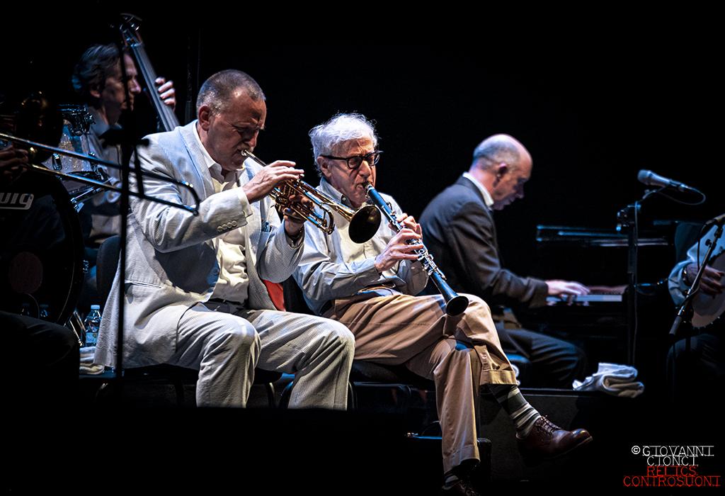Woody Allen & The Eddy Davis New Orleans Jazz Band @Teatro degli Arcimboldi, Milano (foto di Giovanni Cionci)