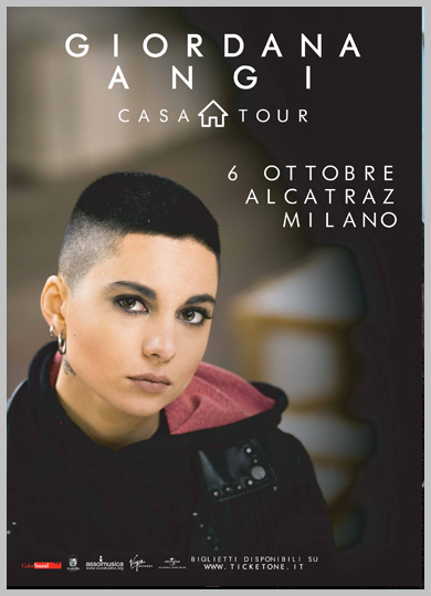 Giordana Angi in concerto a Milano il 6 ottobre
