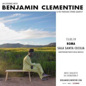 Benjamin Clementine torna all'Auditorium Parco della Musica il prossimo 15 Maggio!