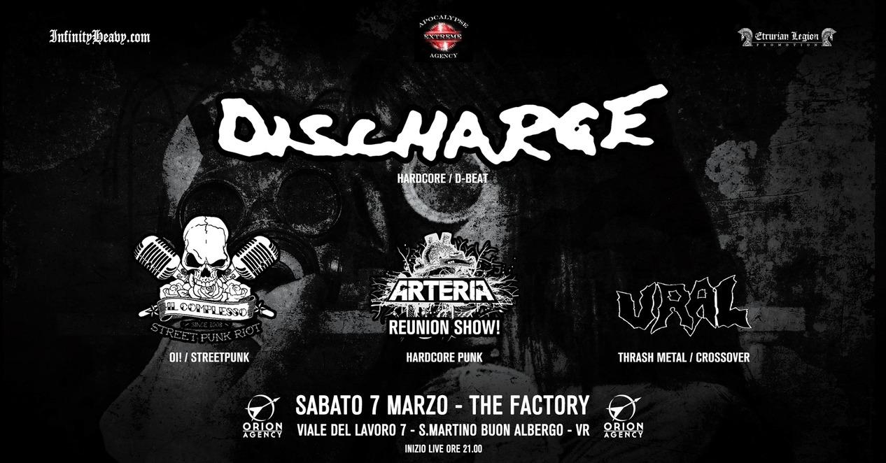 Discharge + Guest Live Sabato 7 marzo  @The Factory - Verona