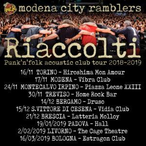 """MODENA CITY RAMBLERS - Annunciato """"Riaccolti"""", il punk'n'folk acoustic club tour, un atteso ritorno alle origini della band"""