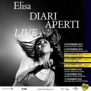 Elisa porta il suo Diari Aperti live nei palasport