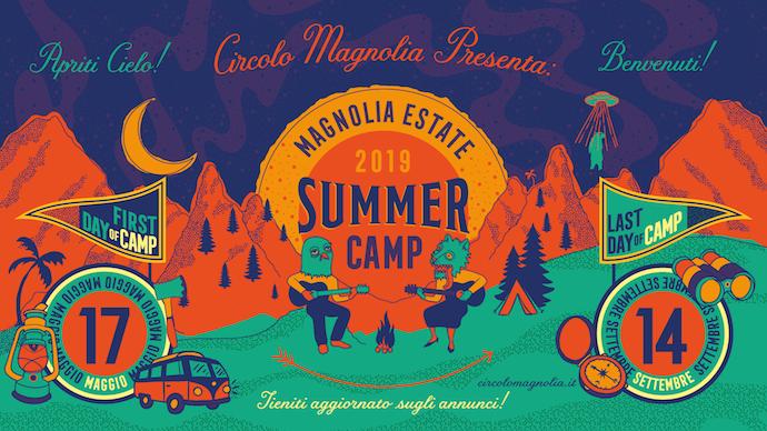 MAGNOLIA ESTATE 2019 - SUMMER CAMP: Dal 17 Maggio al 14 Settembre la rassegna estiva del CIRCOLO MAGNOLIA,  SEGRATE (MI)