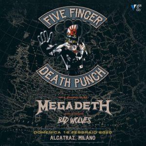 Five Finger Death Punch + Megadeth: una data in Italia a febbraio