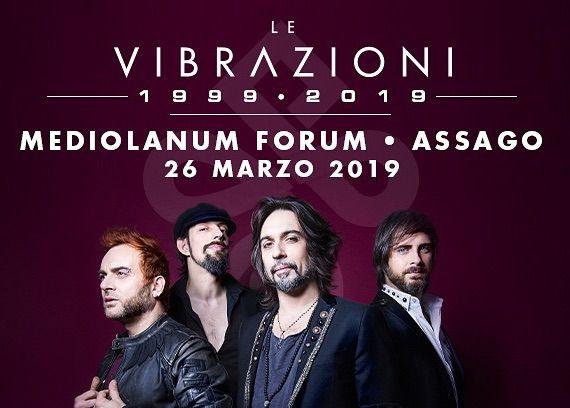 Le VIBRAZIONI, data al Forum di Milano e tour europeo a Settembre