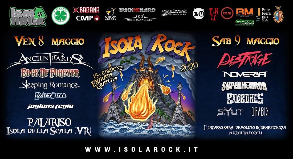 Isola Rock 2020 Venerdì 8 e Sabato 9 Maggio Isola della Scala (VR)