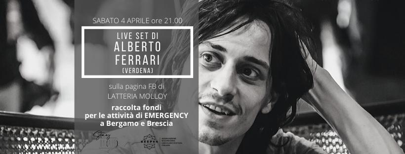 Alberto Ferrari, live set benefico in favore di Emergency