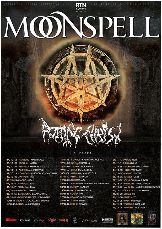 Moonspell e Rotting Christ in Tour - due le date Italiane