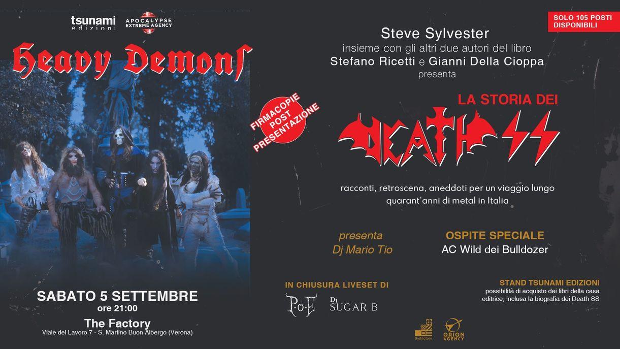 Heavy Demons Night: la storia dei Death SS a Verona in esclusiva sabato 5 Settembre al THE Factory