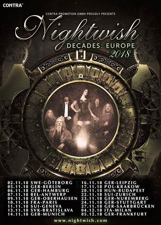 Nightwish @Milano 2018 Decades World Tour