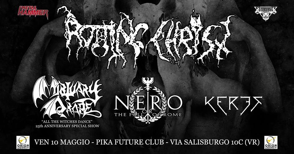 Rotting Christ + Mortuary Drape special show @Pika Future Club 10 Maggio