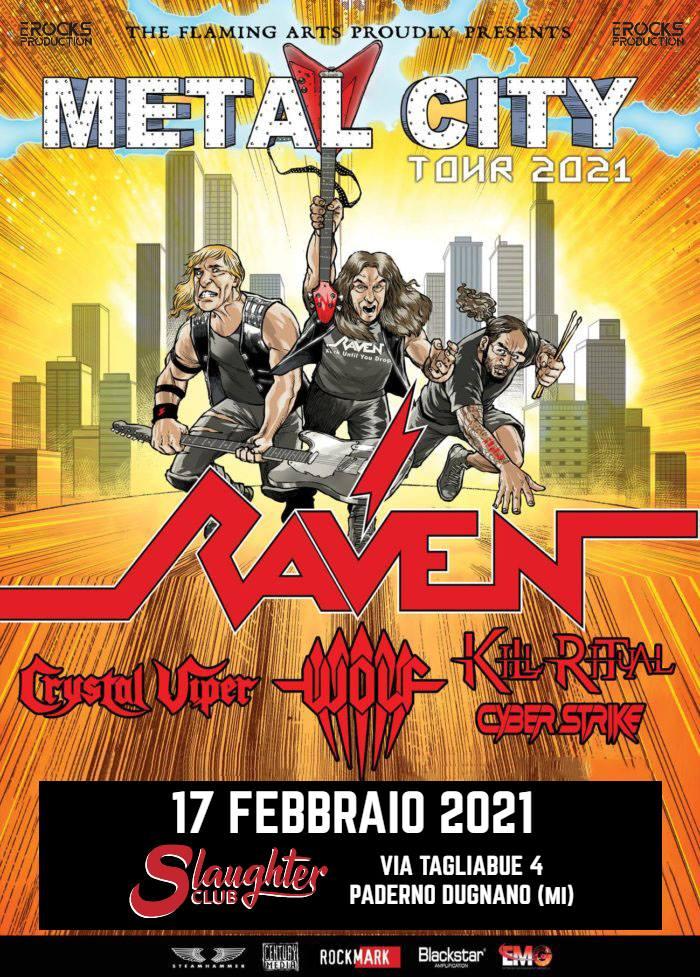 Raven: una data in Italia nel 2021