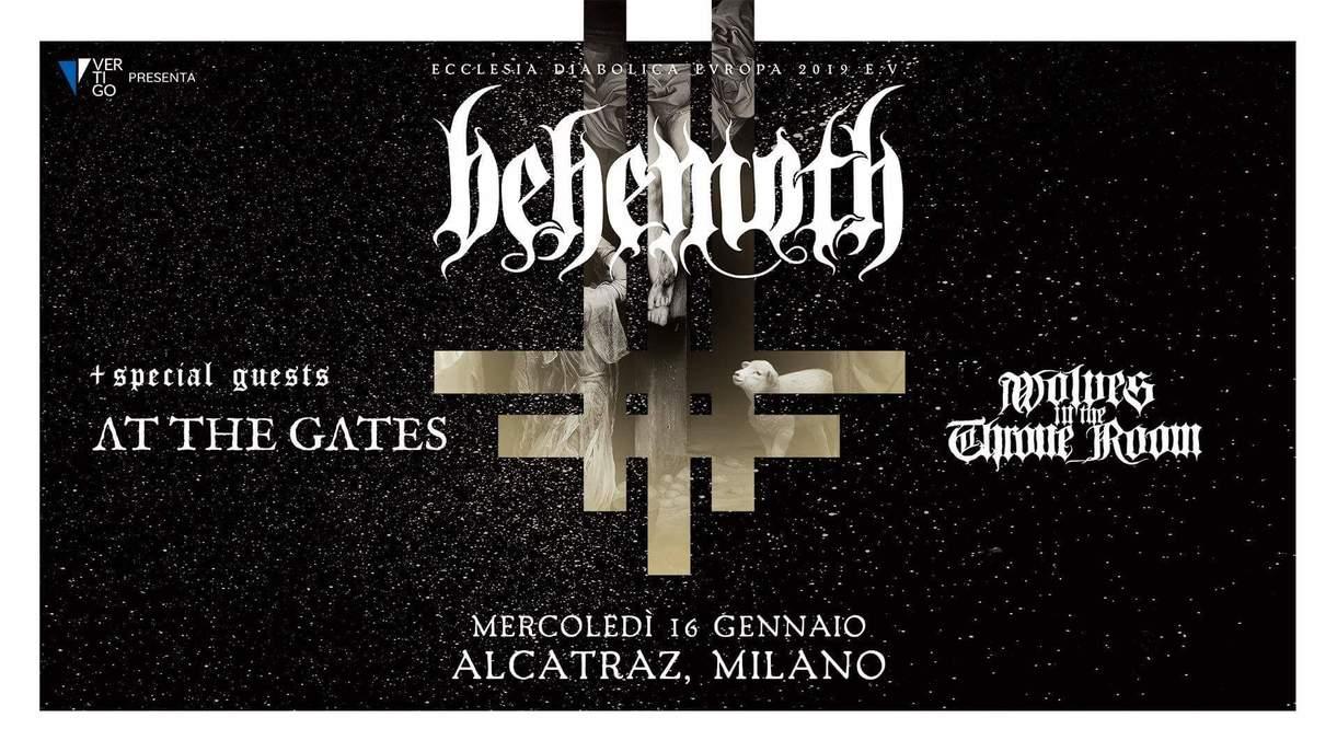 BEHEMOTH: in Italia, unica data, il tour del nuovo album