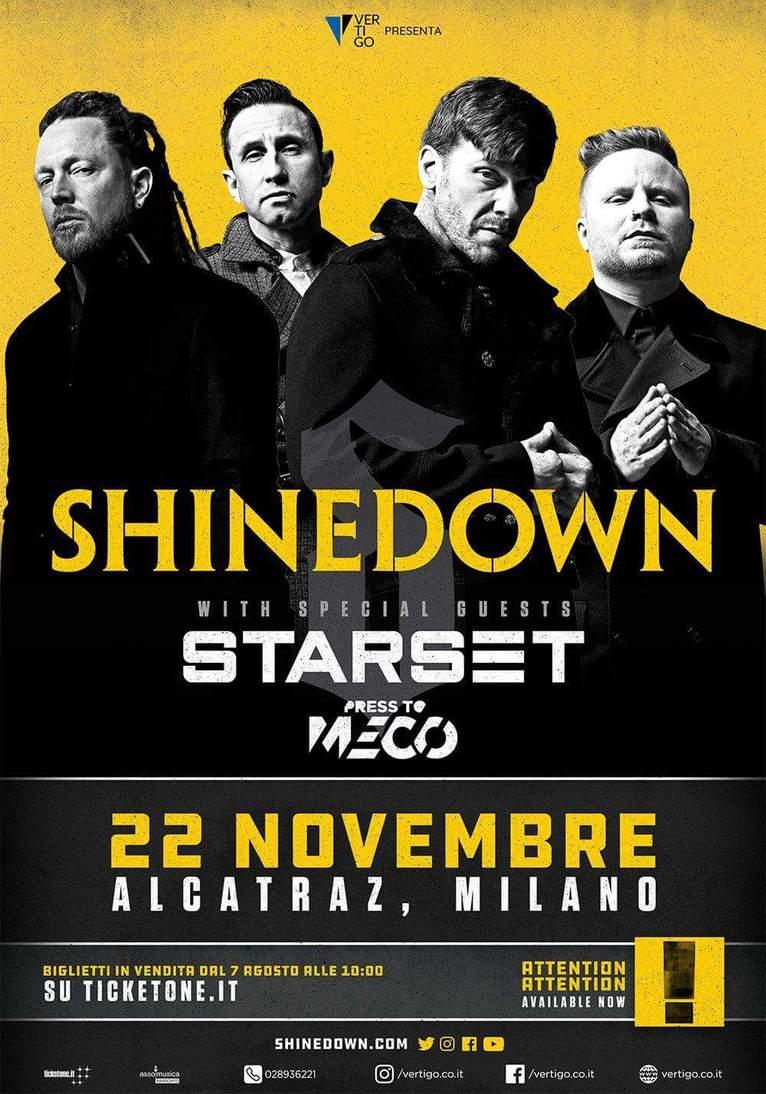 SHINEDOWN: una data a novembre in Italia!