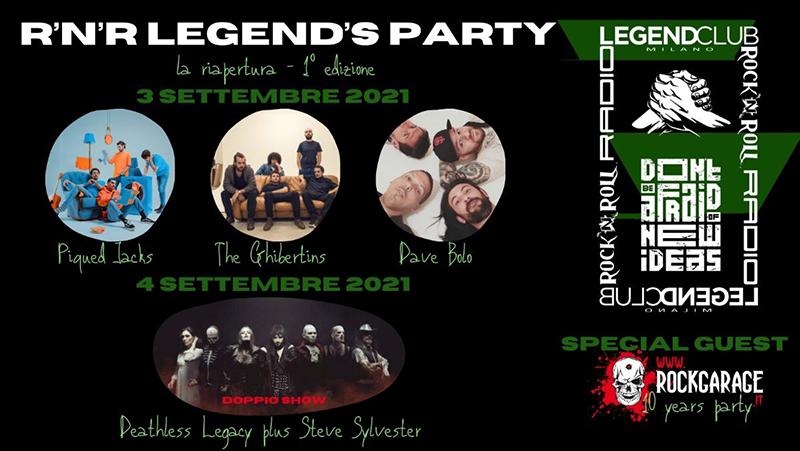 R'N'ROLL LEGEND'S PARTY - i dettagli