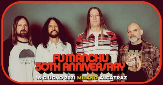 Fu Manchu: la data italiana riprogrammata a giugno 2021