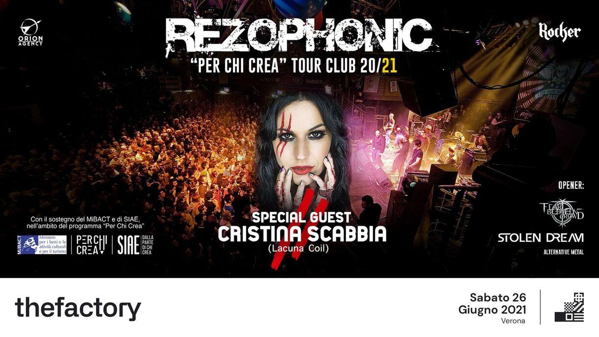 REZOPHONIC with CRISTINA SCABBIA al The Factory