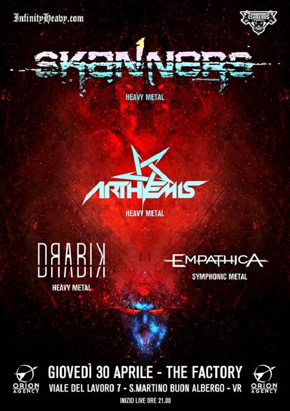 Skanners / Arthemis / Drabik / Empathica live @The Factory giovedi' 30 Aprile