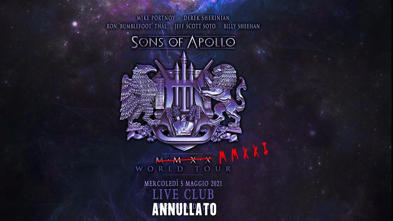 SONS OF APOLLO: annullata ufficialmente la data italiana