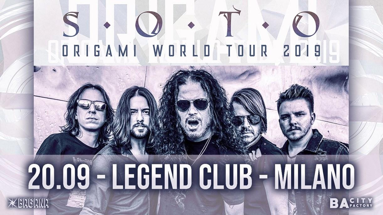 Soto live al Legend Club - Milano Venerdì 20 settembre 2019