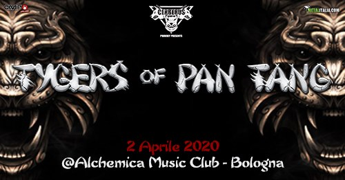 Tygers Of Pan Tang @Alchemica Music Club Bologna giovedì 2 Aprile