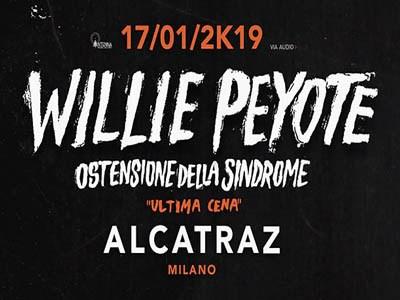 WILLIE PEYOTE in concerto all' Alcatraz di Milano il 17 Gennaio 2019