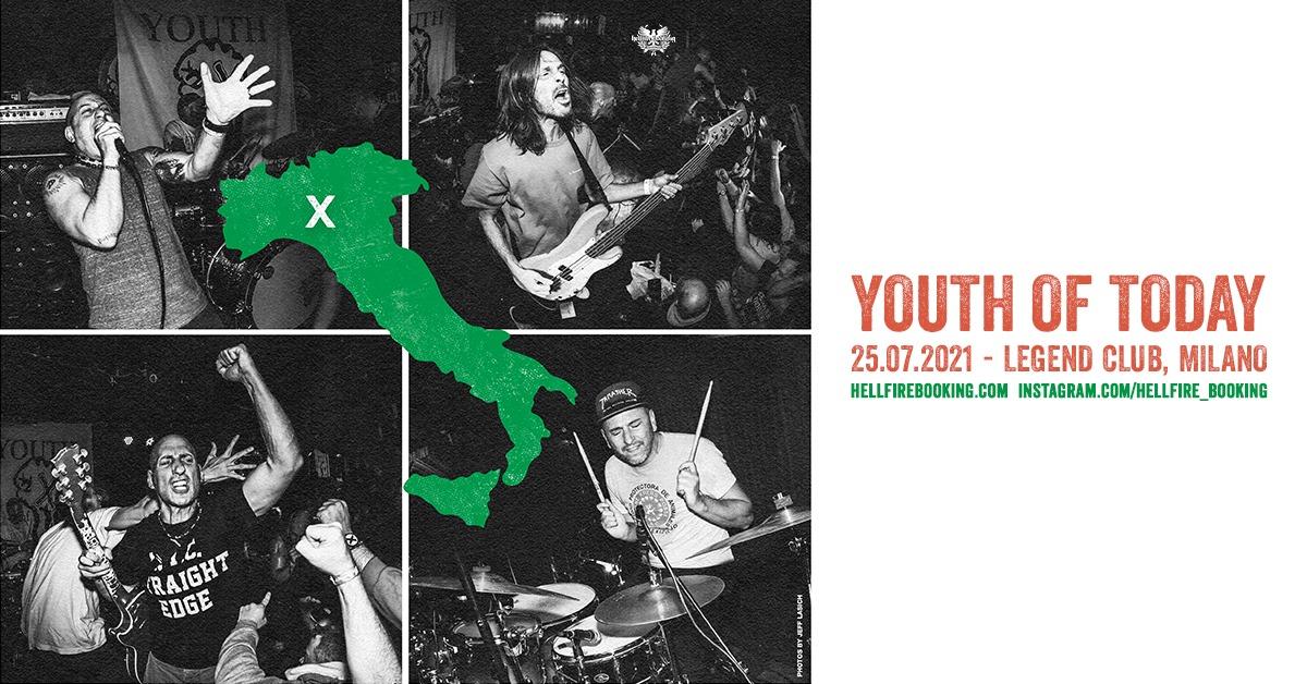 YOUTH OF TODAY - una data in Italia a luglio!